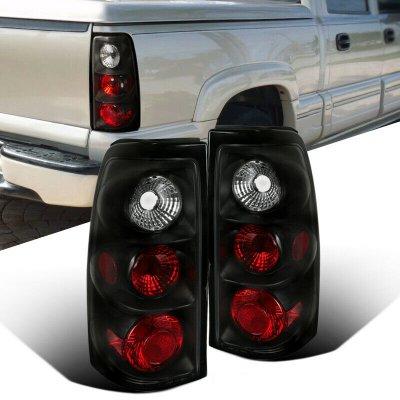 GMC Sierra 2004-2006 Black Altezza Tail Lights