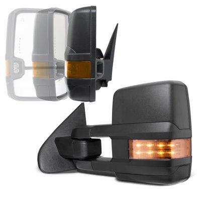 Chevy Silverado 2500HD 2007-2014 Power Folding Tow Mirrors LED Lights
