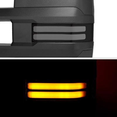 GMC Yukon 2007-2014 Power Folding Tow Mirrors Smoked LED DRL