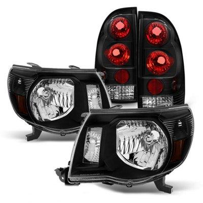 Toyota Tacoma 2005-2011 Black Headlights Set