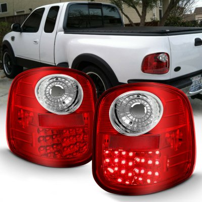 Ford F150 Flareside 1997-2003 LED Tail Lights Red and Clear