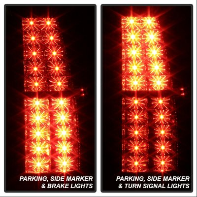 GMC Yukon 2007-2014 Black LED Tail Lights