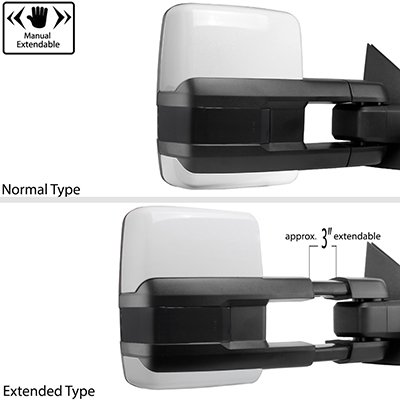 Ford F250 Super Duty 2008-2016 White Tow Mirrors Smoked Switchback LED DRL Sequential Signal