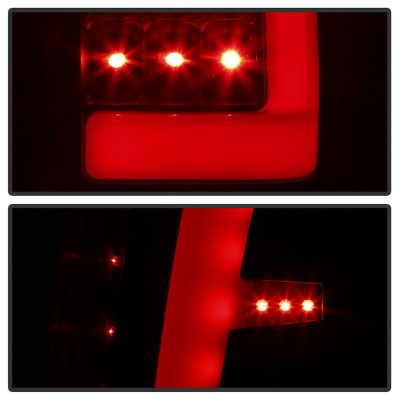 Chevy Avalanche 2002-2006 Black Smoked LED Tail Lights Tube
