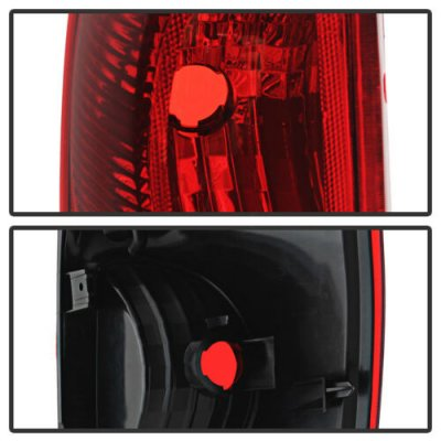 Chevy Avalanche 2002-2006 Red and Clear Tail Lights