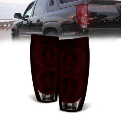 Chevy Avalanche 2002-2006 Red and Smoked Tail Lights