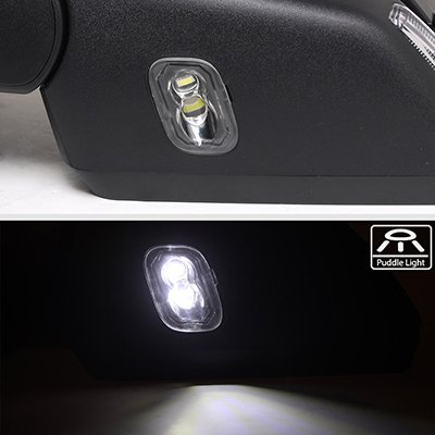 Ford F150 2015-2020 Glossy Black Side Mirrors Power Heated LED Signal Puddle Lights