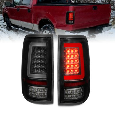 Ford F150 2004-2008 Black Smoked LED Tail Lights Tube