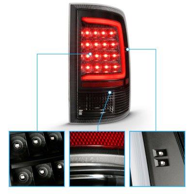 Dodge Ram 2500 2010-2018 Black LED Tail Lights Tube