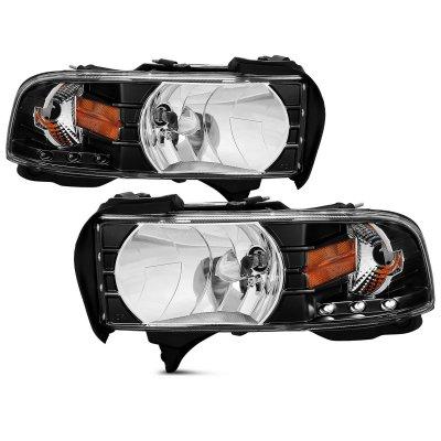 Dodge Ram 2500 1994-2002 Crystal Headlights Black LED
