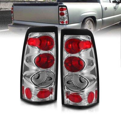 Chevy Silverado 2500 1999-2002 Chrome Custom Tail Lights