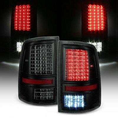 Dodge Ram 2500 2010-2018 Black Smoked Full LED Tail Lights