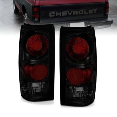 Chevy S10 1982-1993 Dark Smoked Altezza Tail Lights