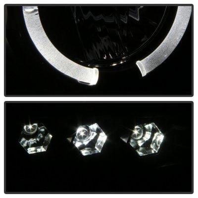 Dodge Ram 2002-2005 Black Smoked Halo Projector Headlights with LED