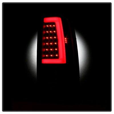 Chevy Silverado 2003-2006 Black Smoked LED Tube Tail Lights
