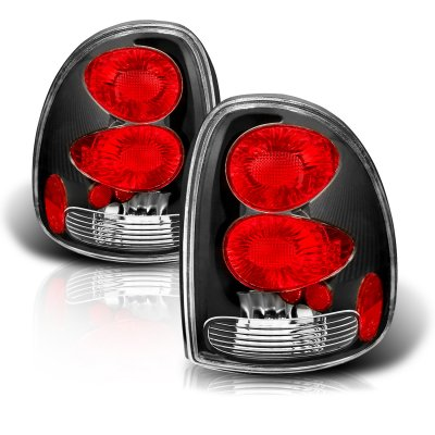 Chrysler Town and Country 1996-2000 Black Custom Tail Lights