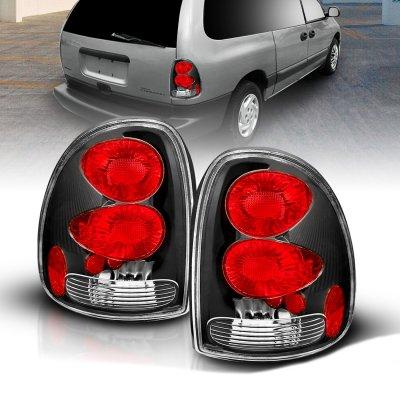 Dodge Grand Caravan 1996-2000 Black Custom Tail Lights