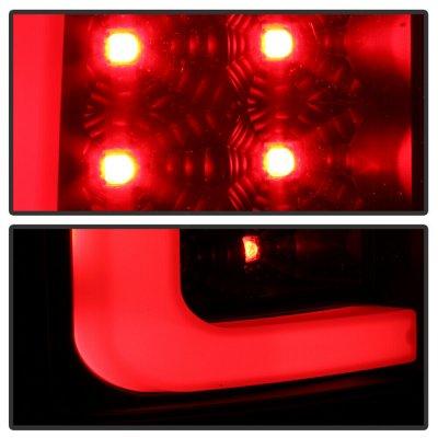GMC Sierra 2007-2013 Black LED Tail Lights Tube