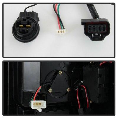 GMC Sierra 3500HD 2007-2014 Black LED Tail Lights Tube