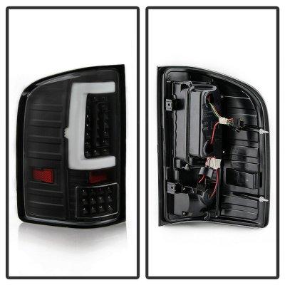 Chevy Silverado 2500HD 2007-2014 Black LED Tail Lights Tube