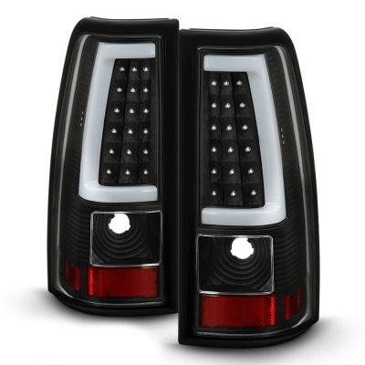 Chevy Silverado 2003-2006 Black LED Tube Tail Lights
