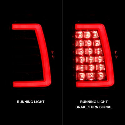GMC Sierra 1999-2006 Red and Clear LED Tube Tail Lights