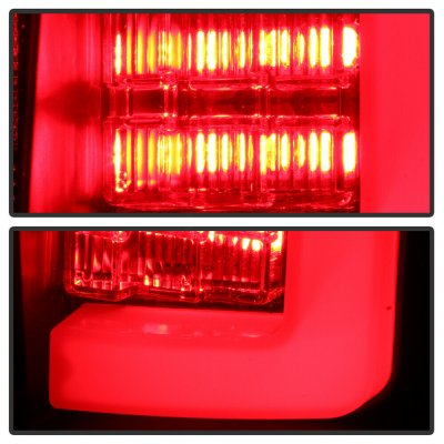 Ford F150 2009-2014 Black Tube LED Tail Lights