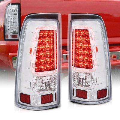 Chevy Silverado 2500HD 2001-2002 LED Tail Lights Chrome Clear