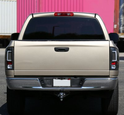 Dodge Ram 2002-2006 Black Tube LED Tail Lights