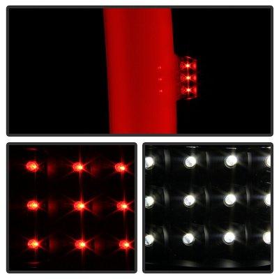 Chevy Silverado 2007-2013 Black Smoked LED Tail Lights Tube