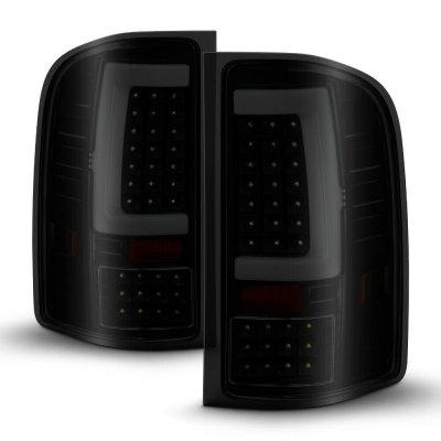GMC Sierra 3500HD 2007-2014 Black Smoked LED Tail Lights Tube