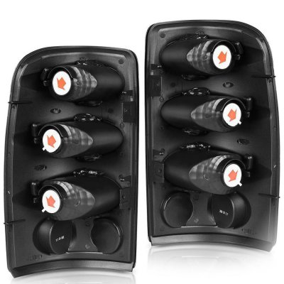 Chevy Tahoe 2000-2006 Black Smoked Altezza Tail Lights