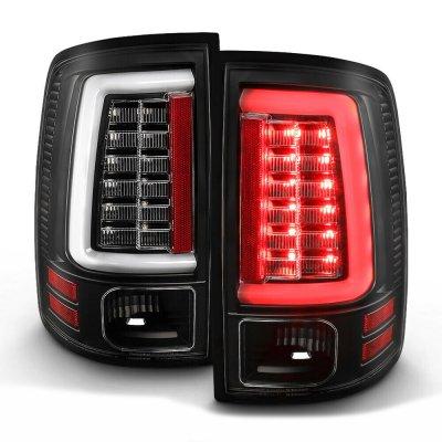 Dodge Ram 2500 2013-2018 Black LED Tail Lights SS-Series