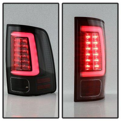Dodge Ram 2013-2018 Black LED Tail Lights SS-Series