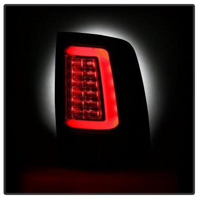 Dodge Ram 3500 2013-2018 Black LED Tail Lights SS-Series
