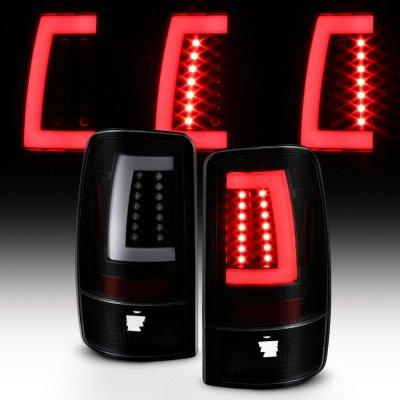Chevy Suburban 2000-2006 Black Smoked LED Tail Lights Tube