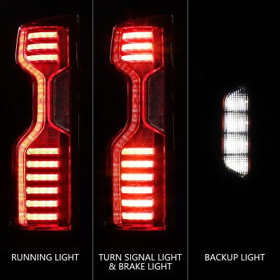 Chevy Silverado 3500HD LT 2020-2021 Custom LED Tail Lights