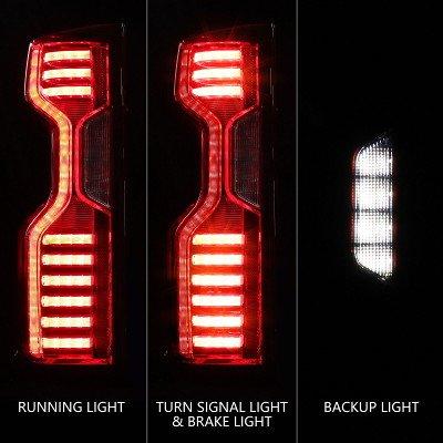 Chevy Silverado 2500HD LT 2020-2021 Custom LED Tail Lights