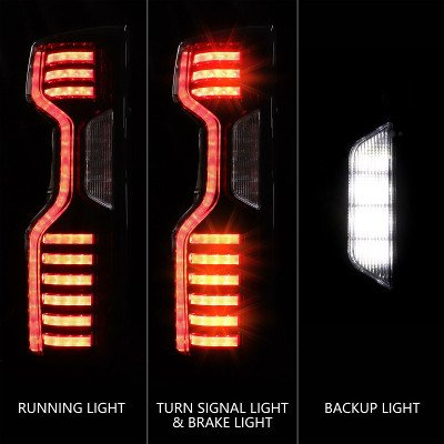 Chevy Silverado 1500 LT 2019-2021 Black Custom LED Tail Lights