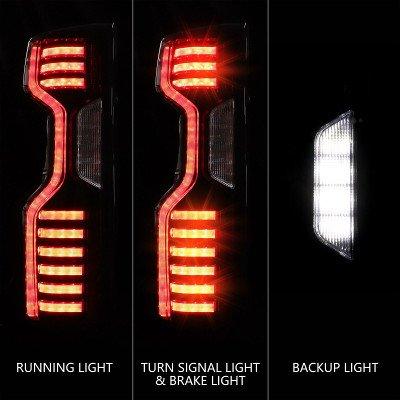 Chevy Silverado 2500HD LT 2020-2021 Black Custom LED Tail Lights