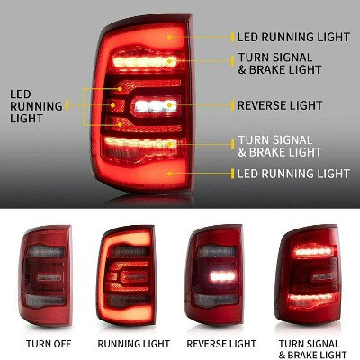 Dodge Ram 1500 2009-2018 5th Gen LED Tail Lights
