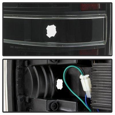 Ford F150 2009-2014 Black LED Tail Lights Tube