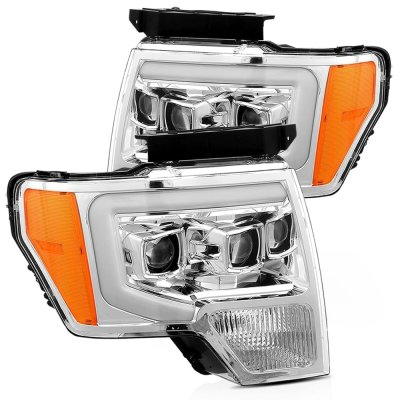 Ford F150 2009-2014 Projector Headlights Switchback LED DRL Signal Lights