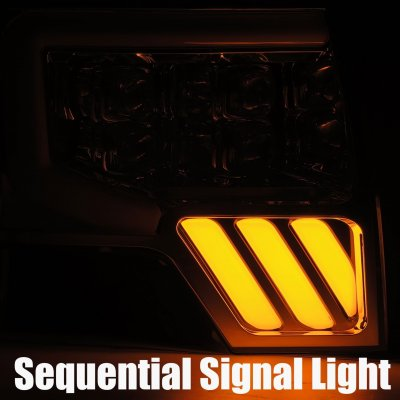 Ford F150 2009-2014 Glossy Black NOVA LED Projector Headlights Dynamic Signals