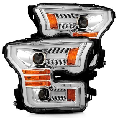 Ford F150 2015-2017 Projector Headlights LED DRL Dynamic Signal Activation