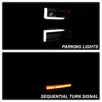 Chevy Silverado 1500 2019-2020 Projector Headlights LED DRL Dynamic Signal