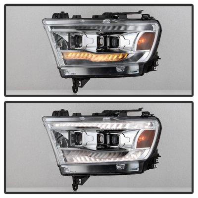 Dodge Ram 1500 2019-2021 Projector Headlights LED DRL Dynamic Signal
