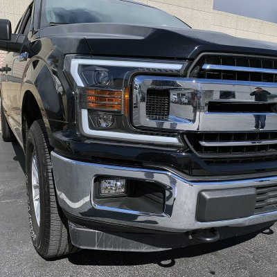 Ford F150 2018-2020 Black Projector Headlights LED DRL Dynamic Signal Activation