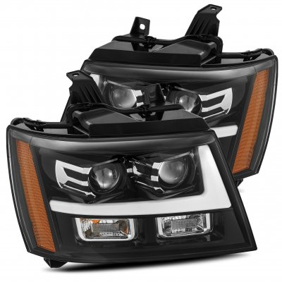 Chevy Suburban 2007-2014 Glossy Black Projector Headlights LED DRL Activation