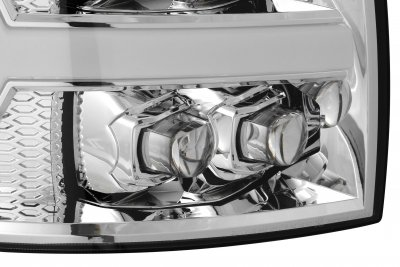 Chevy Silverado 2007-2013 LED Quad Projector Headlights DRL Dynamic Signal Activation